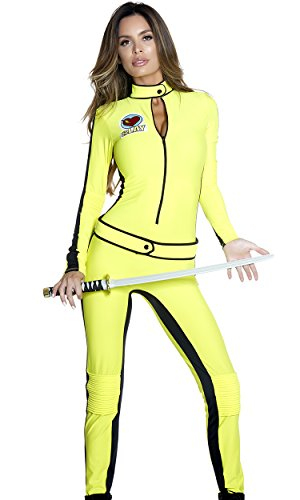 Forplay Women's Will Kill Sexy Movie Character Costume, Yellow, S/M ()