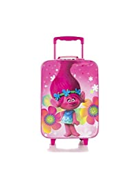 Heys Trolls Brand New Classic Designed Retractable Handle Basic Kids Soft Side Luggage 17 inch