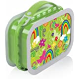 Yubo Deluxe Lunchbox with Peace design, Green