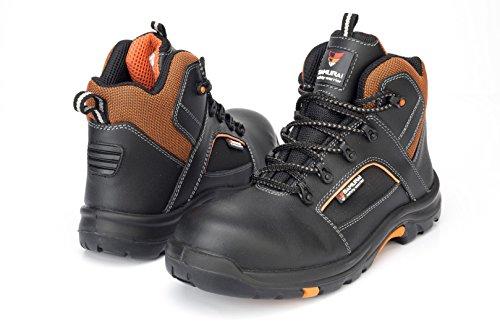 Samurai 1034307007Paar Schuhe Hohe Bengaltiger S3HRO HI CI SRC, schwarz/orange, 45