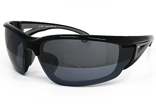 O2 Eyewear 414 Revo Sports Sunglasses for Baseball Running Cycling Fishing Golf with 5 Interchangeable Lenses (Sports, BLACK / - Sports Sunglases