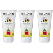 RADIUS - Organic Children's Toothpaste, Safe for Babies and Gently Whitens Teeth, For Children 6 Months and Up (Pack of 3, 1.7 oz)