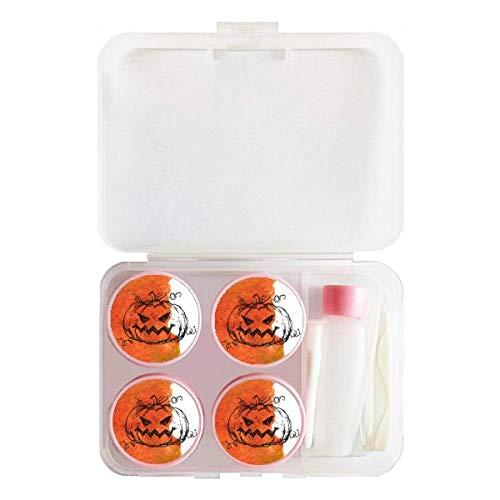 - Hand Painted Pumpkin Of Halloween Contact Lens Case Bulk Tweezers Container Holder