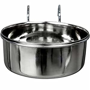 Advance Pet Products Stainless Steel Coop Cups with Hook, 20-Ounce 56