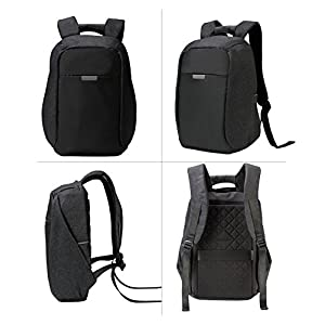 """HONEYJOY Anti-theft Travel Backpack Business Laptop to 15.6 inch Computer Durable School Bag with USB Charging Port for College Student Men & Women (11""""16.9""""4.9"""", Black)"""
