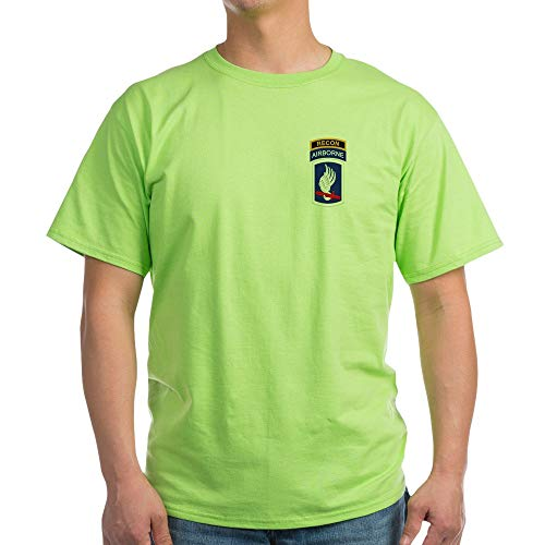 CafePress 173Rd ABN with Recon Tab Light T Shirt 100% Cotton T-Shirt Green ()