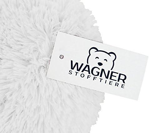Wagner 9070 - Riesen Plüschtier XXL Plüsch Einhorn - liegend - 110 cm Gross in Weiss-pink