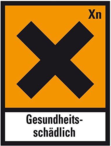Lemax Flammable Hazard Symbol Hard Xn Harmful Film Self Adhesive