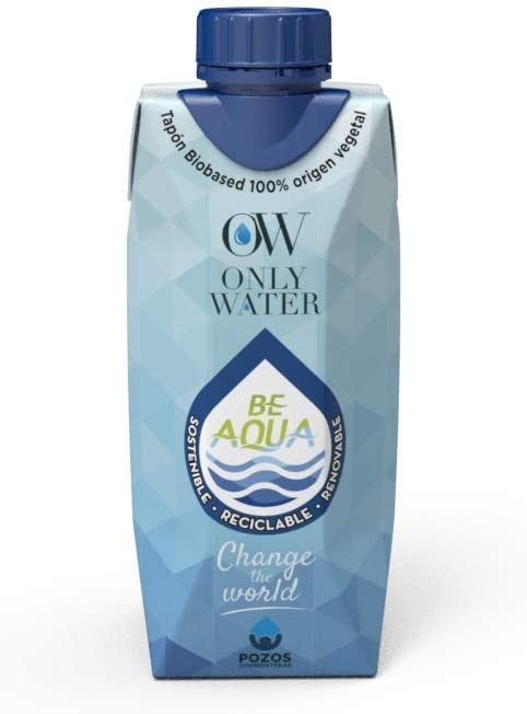 Agua en cartón 330 Only Water 330 ml - 24 unds: Amazon.es ...
