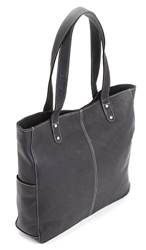 Black Colombian Leather Luxury Black Royce Handcrafted Shoulder Size Bag in One Women's Leather Hobo 4Hx4wf1Tn