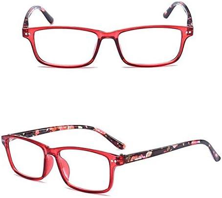 RJGOPL des lunettes de soleil Homens Mulheres Leculo Oculaires Anti Fatigue Transparent Oculaires LeonLion Pequeno Quadro Leitura oculos-1.0 1.5 2.0 2.5 3.0 3.5 4.0 Rouge +150
