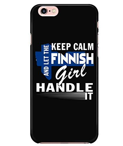 iPhone 6/6s Case, Let The Finnish Girl Handle It Case for Apple iPhone 6/6s, I Love Finland iPhone Case (iPhone 6/6s Case - Black) -