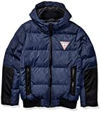 GUESS Men's Mixed Media Hooded Puffer