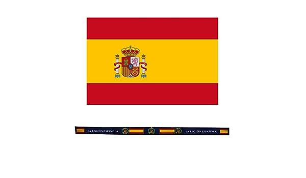 ALBERO Pack Bandera de España Tela 90 x 120 cm y Pulsera Tela ...