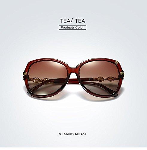 para de calidad Diseñador Yao de de mujeres marco Polarized gafas alta moda de sol para Oval de Mariposa 3 gradiente adultos verano Gafas marca sol qpwBqW7Tr