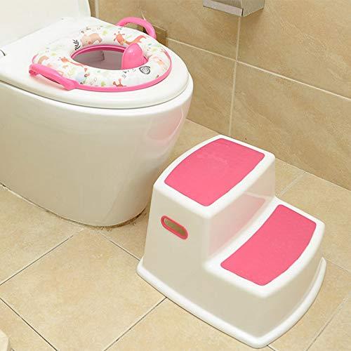 Double marchepied Salle de Bain Amusante Lophome Tabouret de Toilette pour Enfants Marches pour Enfants