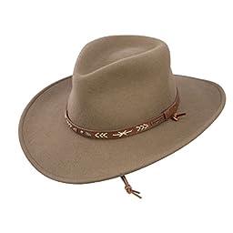 Stetson Men\'s Santa Fe Crushable Wool Hat - Large - Mushroom