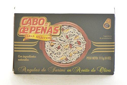 Cabo De Peaas Surimi Baby Eels in Olive Oil by Cabo De Peaas