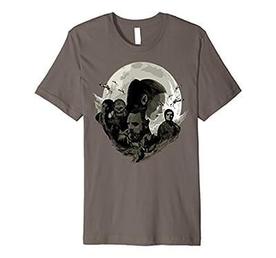 Star Wars Last Jedi Rebels Moon Silhouette Premium T-Shirt