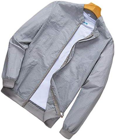 MengFan メンズ 夏 UVカット ラッシュパーカー コート ジャケット 夏 無地 薄手 軽量 MA-1 日焼け止め 服 ジャンパー メンズ おしゃれ トップス シンプル ブルゾン