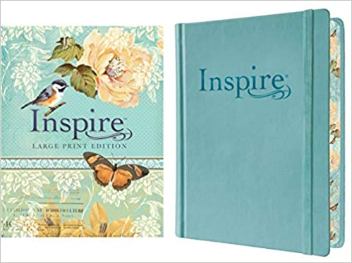 Tyndale Nlt Inspire Bible Large Print Hardcover Tranquil Blue Journaling And Coloring Bible Over 400 Scripture Illustrations To Color Creative Bible Journal That Inspires A Connection With God Tyndale 9781496419859 Amazon Com Books
