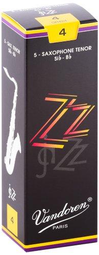 (Vandoren SR424 Tenor Sax ZZ Reeds Strength 4; Box of 5)