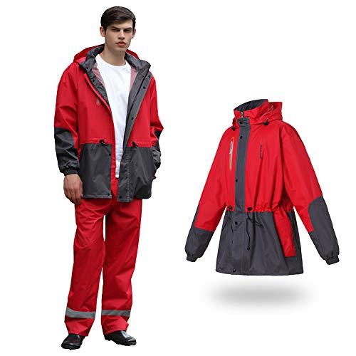 Gray Adulti color Geyao Moda Impermeabili Impermeabile Uomini Pantaloni Elettrica Auto All'aperto Red Equitazione Xl Per Dark Moto Marea Big Tuta Size Di Z5Eqq1xwY