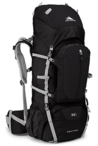 65L Top LoadBackpack Pack, High-Performance Pack for Backpacking, Hiking, Camping, with Rain Fly, Black/Black/Silver ()