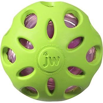 JW Pet Company Crackle Heads Crackle Ball Dog Toy, Medium, Colors Vary