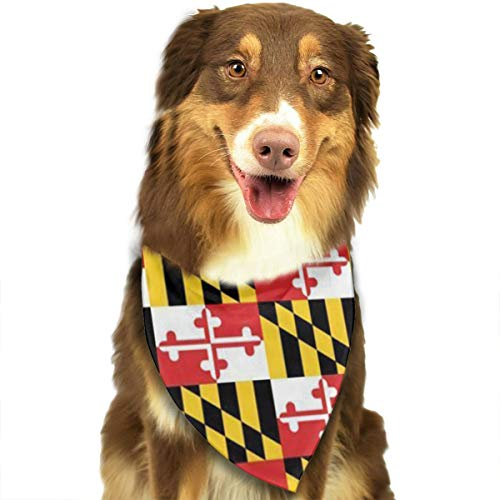 JWKSY Dog Bandana Scarf Maryland Flags Triangle Bibs Printing Kerchief Set Accessories Dogs Cats Pets ()