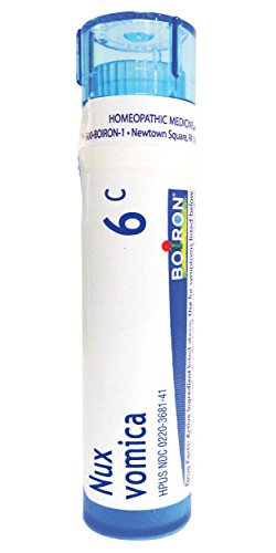 (Boiron Nux Vomica 6C (Pack of 5), Homeopathic Medicine for Hangover Relief)