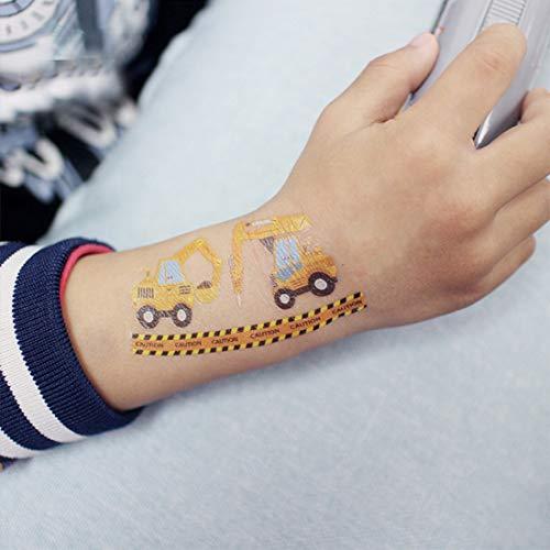 Kits de tatuajes temporales falsos de coche para niños, 20 hojas ...