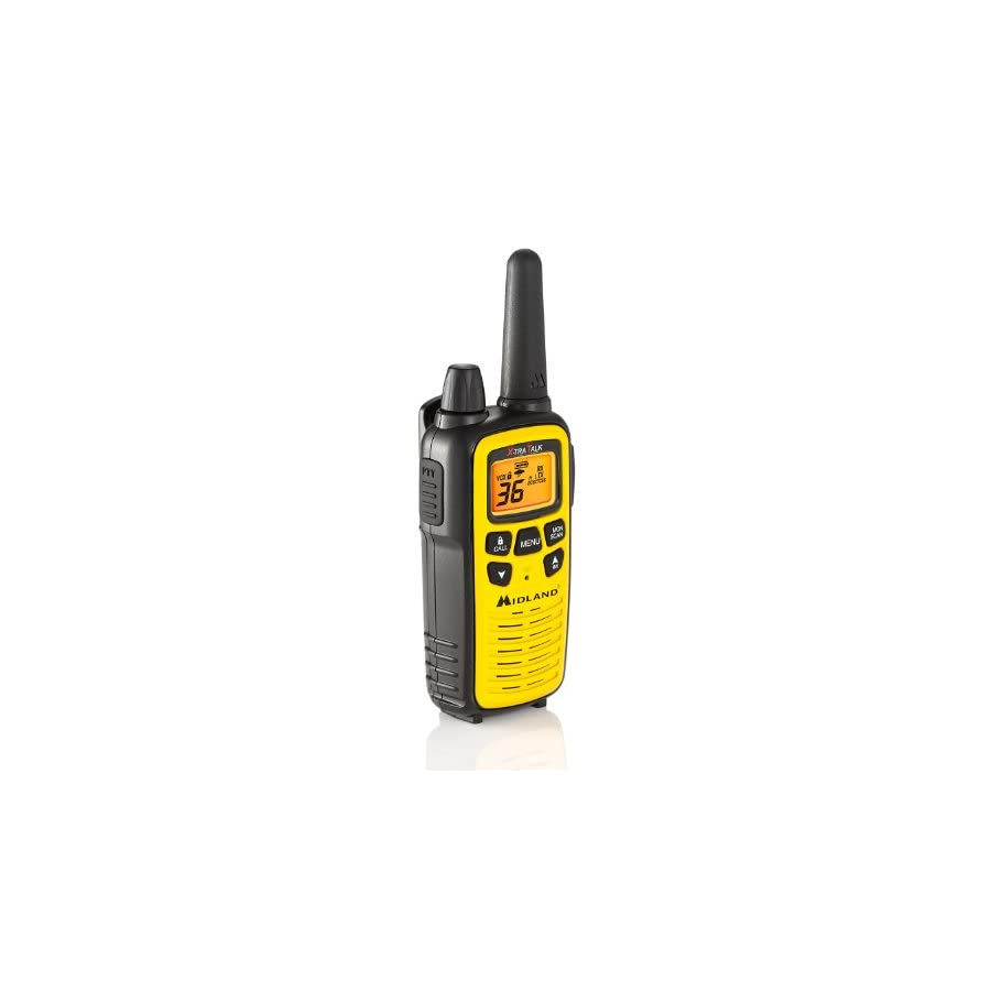 Midland Consumer Radio LXT630X3VP3 3 Pack 36 Channel Gmrs with 26 Mile Range NOAA Weather Alert, Rechargeable Batteries Charger, in a High Visibility Yellow