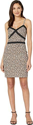 (bebe Womens Tight Cami Dress Leopard Safari 2)