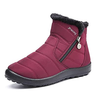 Amazon.com | gracosy Warm Snow Boots, Women's Winter Ankle