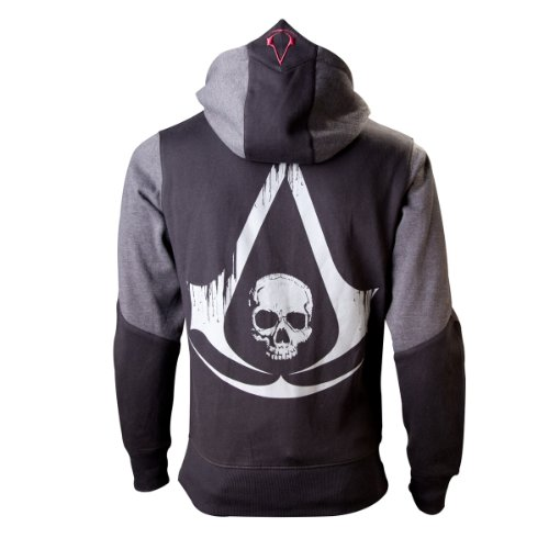 Assassins Creed IV Black Flag Hooded Sweater Logo Size XL -