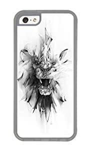 Apple Iphone 5C Case,WENJORS Adorable STONE LION Soft Case Protective Shell Cell Phone Cover For Apple Iphone 5C - TPU Transparent