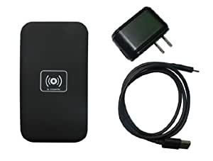 Wireless Charger, TechMatte Qi Wireless Charging Pad for Samsung Galaxy S6 Edge, S6, Note 5, Nexus 6, Nexus 5, Nokia Lumia 950, LG Optimus Vu2 (WITH 1.5A AC Wall Charger)