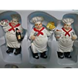 Italian Fat Chef Waiter 6 Pcs Magnets Bistro Decor Kitchen refrigerator Home New.