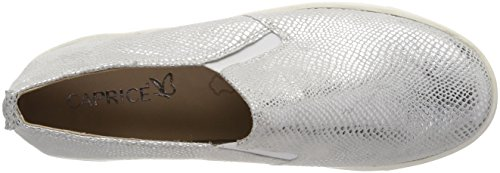 24651 Women's Silver 991 Loafers Caprice Silver Reptile qgxFw55fP1