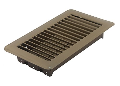 Accord ABFRBR48 Floor Register with Louvered Design, 4-Inch x 8-Inch(Duct Opening Measurements), Brown