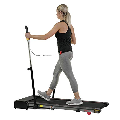 Sunny Health & Fitness Slim Folding Treadmill Trekpad with Arm Exercisers – SF-T7971
