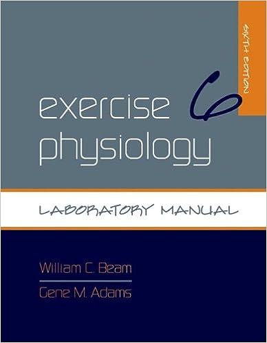 exercise physiology laboratory manual 9780073376592 medicine