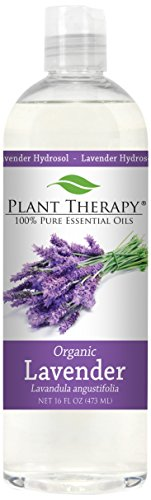Plant Therapy Organic Lavender Hydrosol. (Flower Water, Floral Water, Hydrolats, Distillates) Bi-Product of Essential Oils. 16 Ounce.