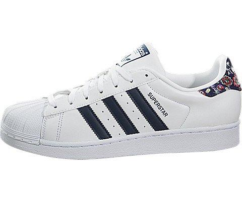 Superstar W Ladies in White/St Dark Slate by Adidas, 7