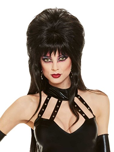 Elvira Costumes Wig (Elvira Mistress Of The Dark Sexy Vampiress Women's Adult Size Costume Wig)