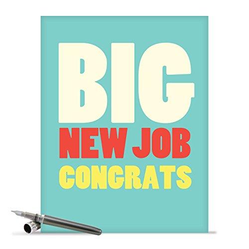 J2735CGG Jumbo Funny Congratulations Card: Big New Job Congrats With Envelope (Extra Large Version: 8.5'' x 11'')