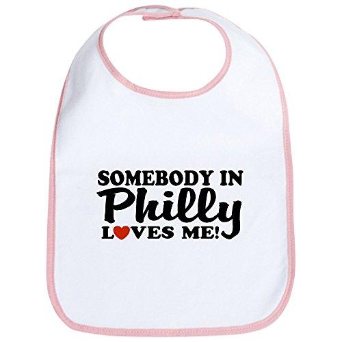 (CafePress Somebody In Philly Loves Me Bib Cute Cloth Baby Bib, Toddler Bib)