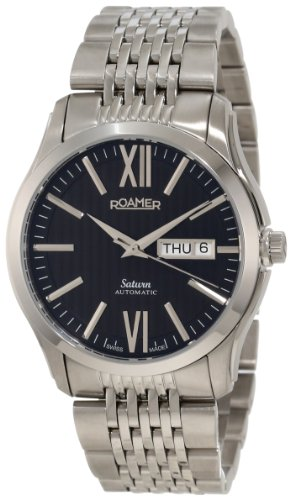 Roamer of Switzerland Women's 941637 41 53 90 Saturn Automatic Black Dial Stainless Steel Date Watch