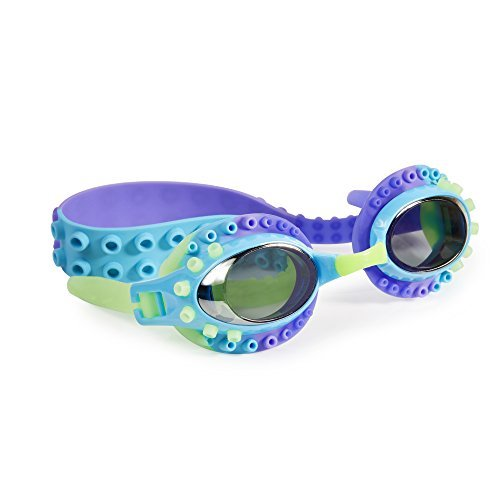[Swimming Goggles For Boys - Charlie Calamari Kids Swim Goggles By Bling2o (Fradiavolo Purple)] (Red Baron Baby Costume)